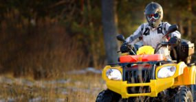 Man riding on an ATV