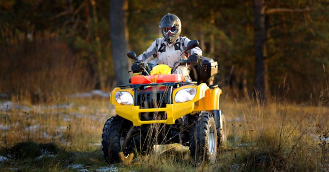 Man riding on an ATV