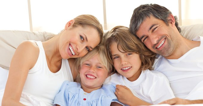 Young family with children